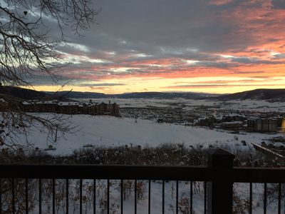 Photo for 2 Bedroom-2 Bath Ski In-Ski Out Condo With Great Views of Ski Area and Valley!