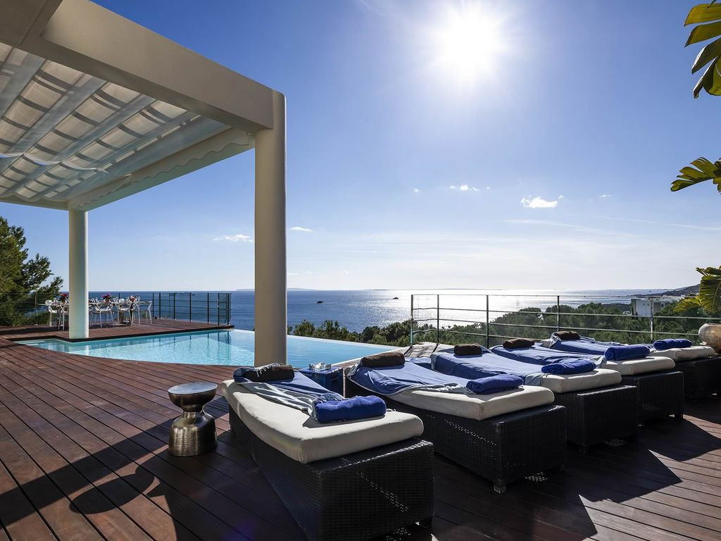 Villa Blue Wave Luxury Property In Ibiza With 3 Private Pools 6 Bedrooms 12 Sleeps Roca Llisa