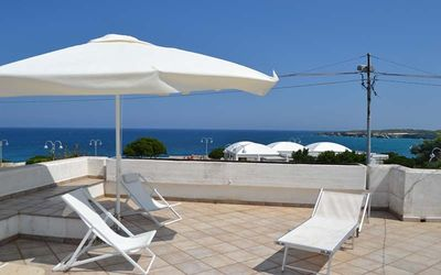 """Photo for Beautiful Holiday Apartment """"Trilocale con vista mare PT51"""" with Terrace & Sea View; Parking Available"""