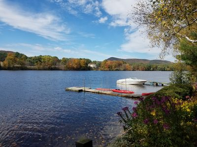 Photo for Waterfront Cabin with a private dock and close to Saratoga and Lake George