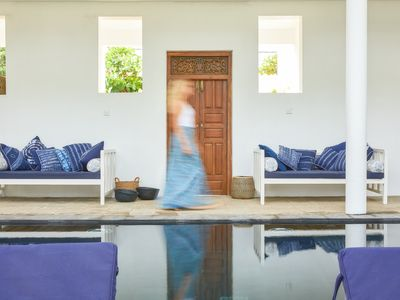 Photo for Beautiful house, gorgeous pool - stepping onto 365 days of surf beach in Sri La