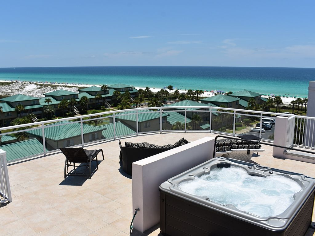 Inquire about Specials Rooftop deck Private 4 person hot tub ...