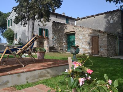 Photo for Cosy house in the Chianni countryside, with garden and panoramic view!