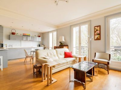 Photo for Bright and calm apartement, view on Père Lachaise