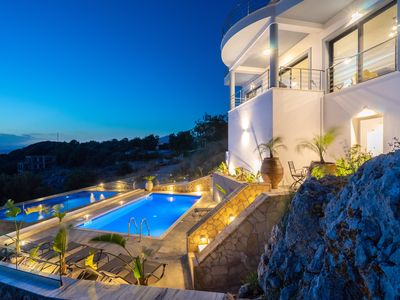 Photo for A modern furnished spacious villa with one of the best sunset views