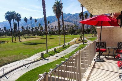 Escape to Palm Springs and stay at this Mesquite Country Club golf course condo!