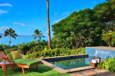 Private Plunge Pool and Partial Ocean Views