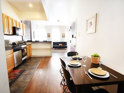 Photo for Mount Morris Park Historic District Apartment, Sleeps 8 with Air Con and WiFi