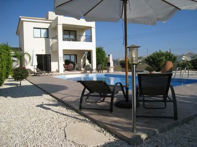 Photo for Large Detached Villa with private pool, minutes from beach.