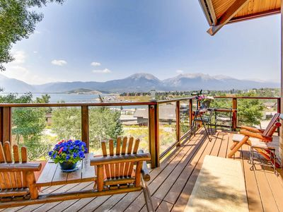 Photo for 6BR Lodge w/ Breathtaking Mountain & Lake Views, Multi-Level Outdoor Living