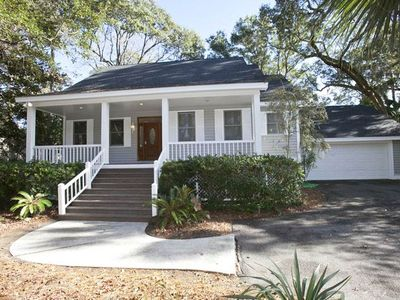 Photo for 29 St. George | Free Daily Tennis | Private Dock on Lagoon | Short Walk to Beach | Screened Porch