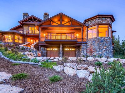 Photo for Spectacular Deer Valley home w/ elevator, hot tub, fitness room, & firepit