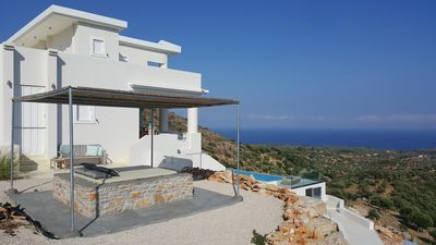Photo for Big private eco villa on a mountain, infinity pool and amazing view over the sea