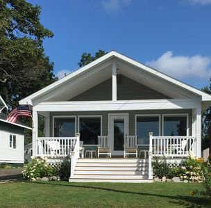 Photo for Water view home overlooking Cedarville Bay in the Les Cheneaux Islands area