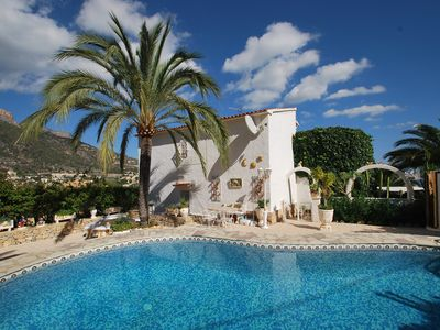 Photo for Holiday apartment with private pool and wonderful sea-view, dog keeping possible