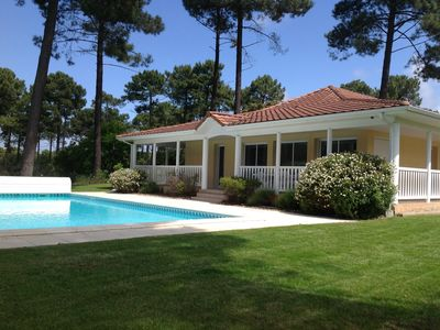 Photo for VILLA 4 CH BIG HEATED POOL DIRECT VIEW ON THE GOLF