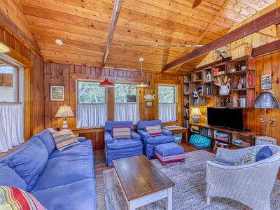 Photo for NEW LISTING! Comfy home w/bright porch, loft for the kids, bike & great location