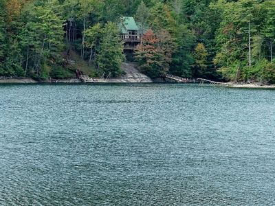 Photo for Beautiful 2 Story Lake Home with Dock on Lake Glenville!