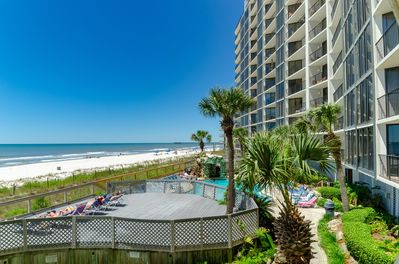 Panama City Beach-Beautiful sugar white sands and emerald waters!  Enjoy it right from your balcony.