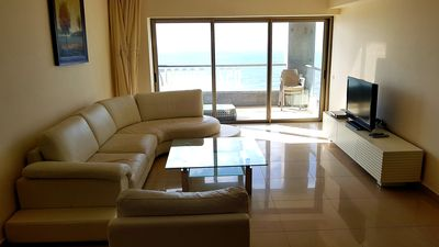 Photo for LUXURY SEA FRONT 4ROOMS APARTMENT-FIRST BEACH LINE ON NETANYA -SEA OPERA COMPLEX