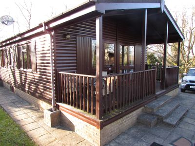 Photo for Delightful two bedroomed lodge in a beautiful, quiet peaceful location.
