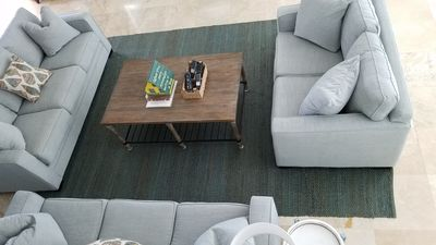 seating area for flat screen in living area