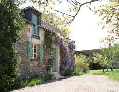 Photo for The Barn, secluded and romantic Loire Valley garden cottage near Chenonceau