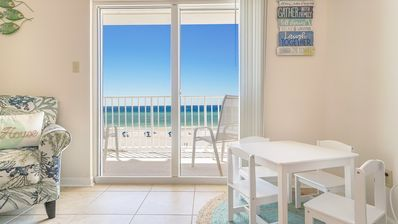 Photo for Beautiful Oceanfront Condo with Gulf View! Directly on the Beach with a Pool!
