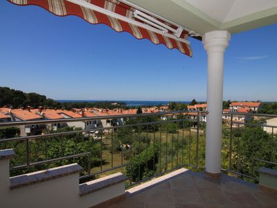 Photo for Exclusive apartment Beethoven overlooking the Adriatic Sea and Porec in top location of Porec