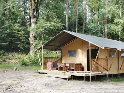 Photo for Enjoy camping in a Luxury Lodge Tent XL in National Park Veluwezoom