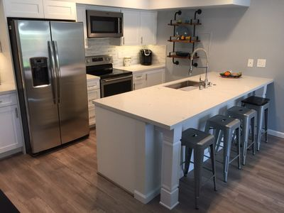 All new kitchen and appliances, all LED lighting, custom soft-closing cabinetry
