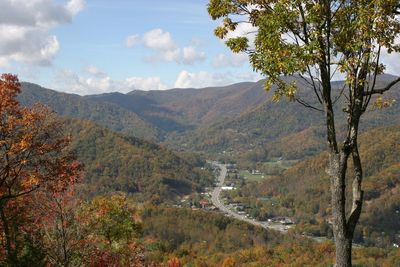 Downtown Maggie Valley from front porch
