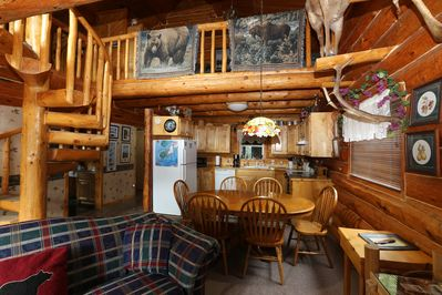 Den, Dining and Kitchen
