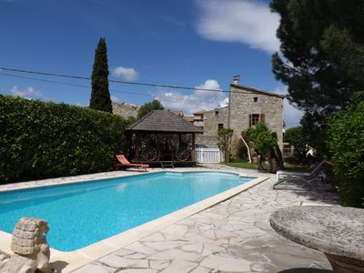 Photo for **** Farmhouse and cottage with pool up to 22 people. nearby river