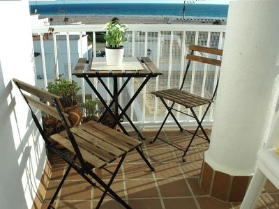 Photo for On the beachfront, magnificent sea views, garage and free WIFI
