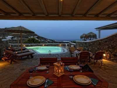 Photo for Panoramic Villa Fos, in Mykonos, in Kalafatis area, with private pool, 4 bedrooms, 10 sleeps
