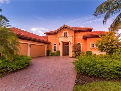 Photo for Lely Golf Resort and Country Club, The Majors, 4 BD, 3 1/2 BA, Pool, Spa, Summer Kitchen with Lake View.