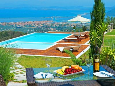 Photo for Luxury Lefkada Villa | Private Pool | Jacuzzi | City and Sea View | 4 Bedrooms | Sfakiotes
