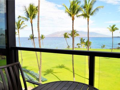 Photo for Complete Remodel!! Beautiful 1 bedroom Ocean Front Condo at Kihei Surfside #412