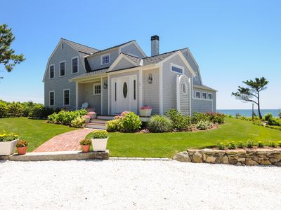 Photo for Beachfront True to New England Style Home  Private beach