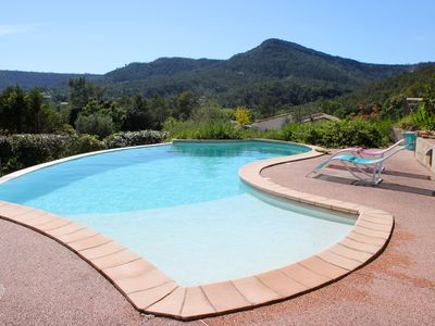 Photo for Mediterranean villa with pool, large garden and stunning view