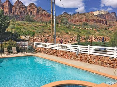 Photo for Zion National Park Escape, Two Great Units, Pool, Parking, Close to Attractions