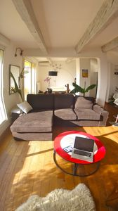 Photo for Splendid duplex large terrace av. small sea view 5mn beach walk / Air Cond