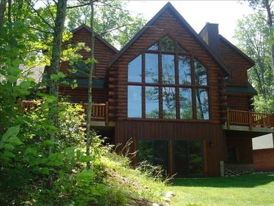 Photo for Gorgeous, Private Log Home on Round Lake
