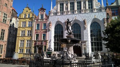 Photo for Old Town Gdańsk, Neptune Fountain, Motława River