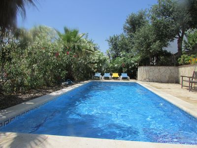 Photo for Spacious villa with large private pool and outstanding sea views.