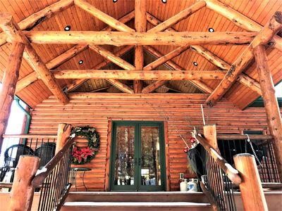Photo for Lucky Chip - 6BR Log Cabin 3 miles to Deadwood, Pool Table, Hot Tub, Wi-Fi, A/C