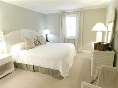 Photo for E11 is a pet friendly two bedroom, two bathroom condo on the 1st floor. Very close to the front HEATED POOL. Screened in patio. All new towels. Open kitchen.