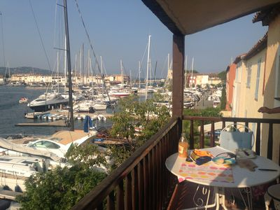 Photo for In Port Grimaud right beside the seaside, your own beach, unspoilt view