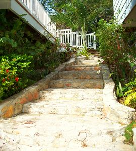 Grand entrance to The Great Exuma house